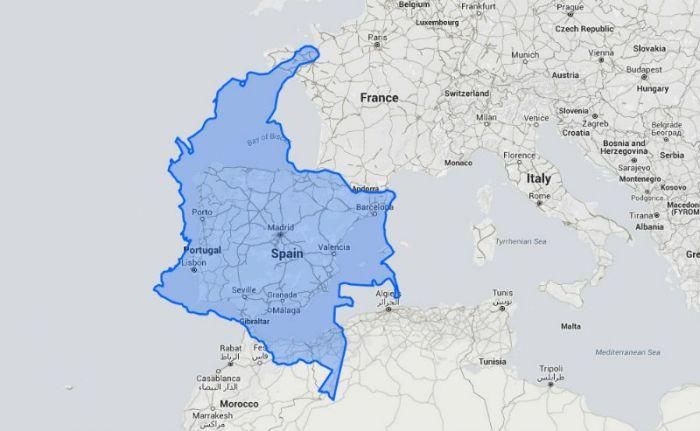 Colombia Vs  países del mundo ¿cuál es más grande?