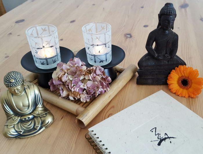 meditación con objetos